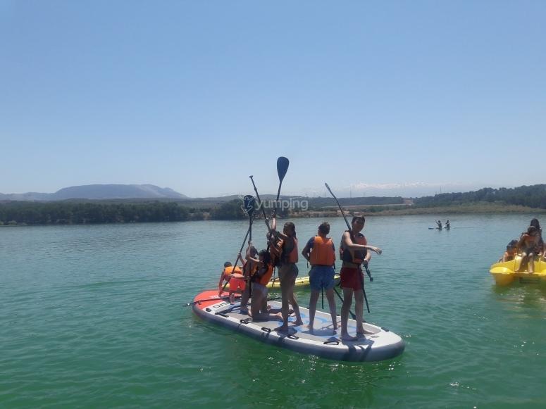 Navegando con tabla de Big SUP
