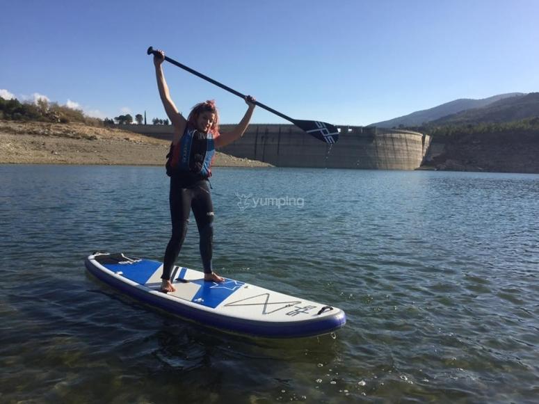 Paddle surf en embalse