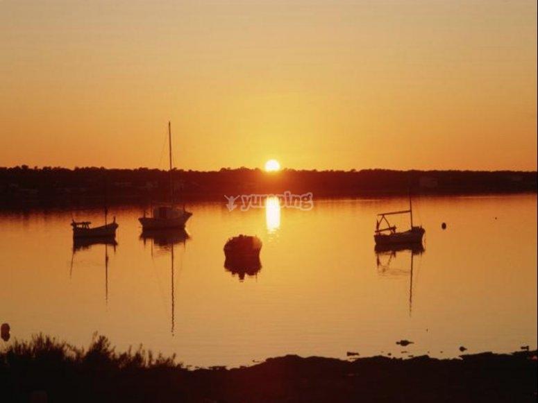 在福门特拉岛的日落