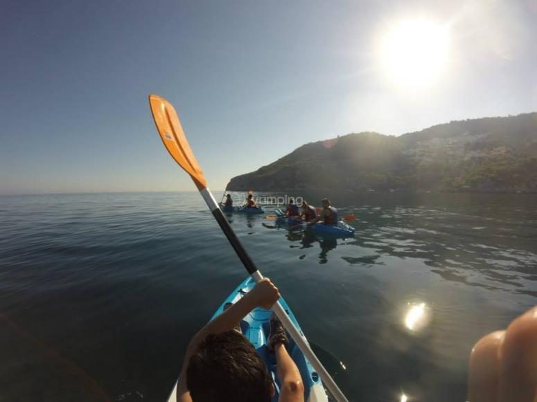 Ruta en kayak en Almuñécar