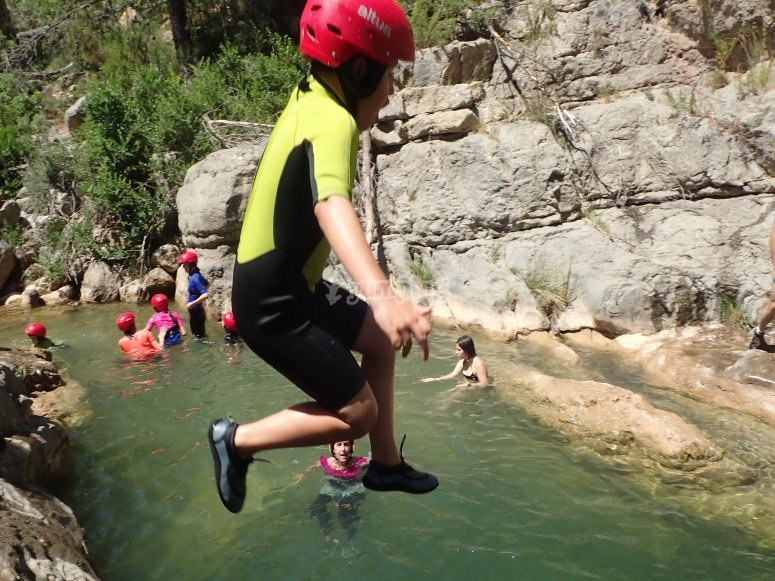 Canyoning with photos and video in Castellón