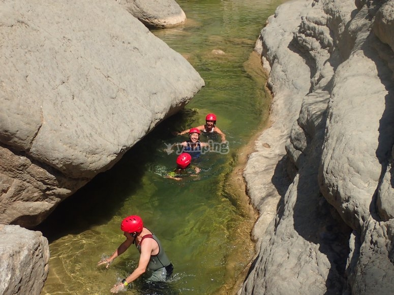 Canyon descent in Maimona