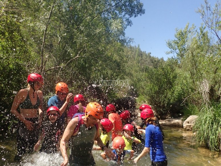 Canyoning descent in Castellón