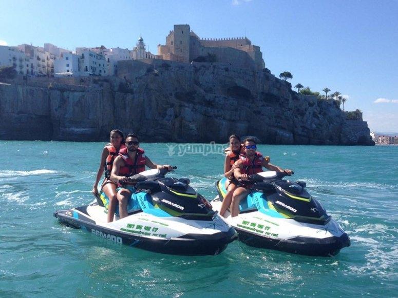 Salida en pareja con motos de agua en Castellón