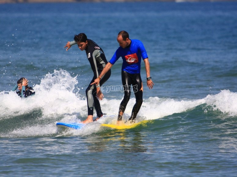 Perfect waves to learn how to surf