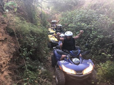 Quad biplaza ruta off road en Salou 1 hora