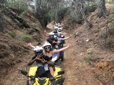 Two-seater quad route Mont Roig 2 hours