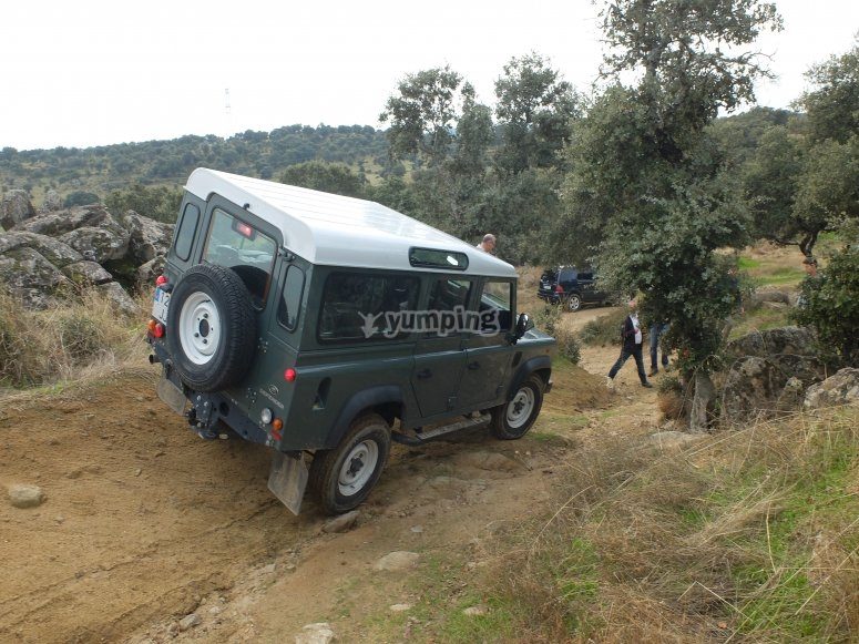Land Rover in action