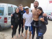 Surfers at the Acero school
