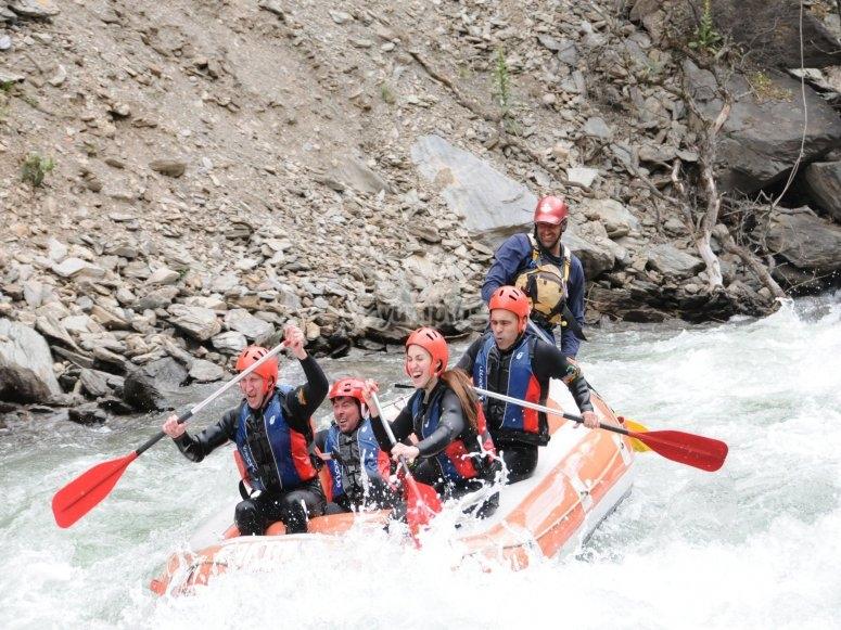 Rafting en familia tramo La Moleta