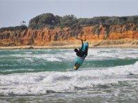Salto de kite en Cadiz