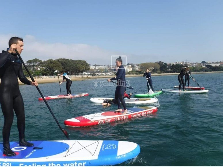 Clases de paddle surf playa de Santa Cristina