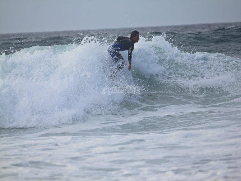Clases de surf en Playa de Santa Cristina