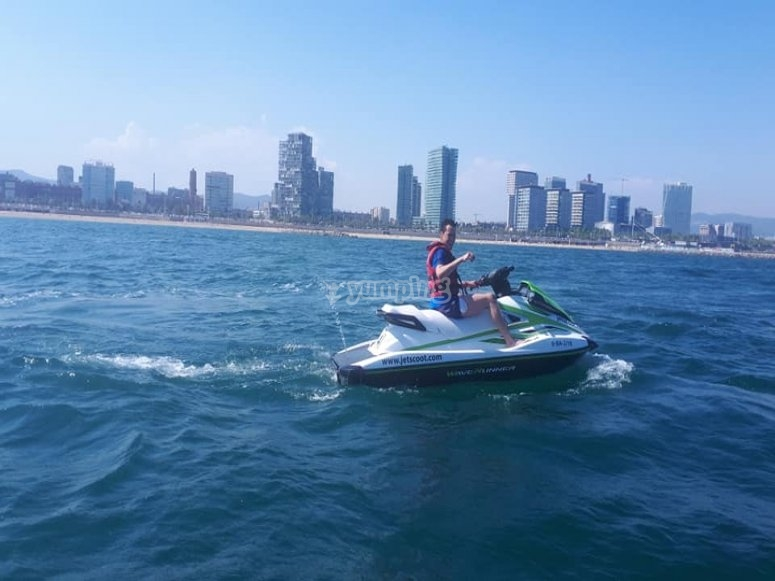 Jet ski tour across the Mediterranean