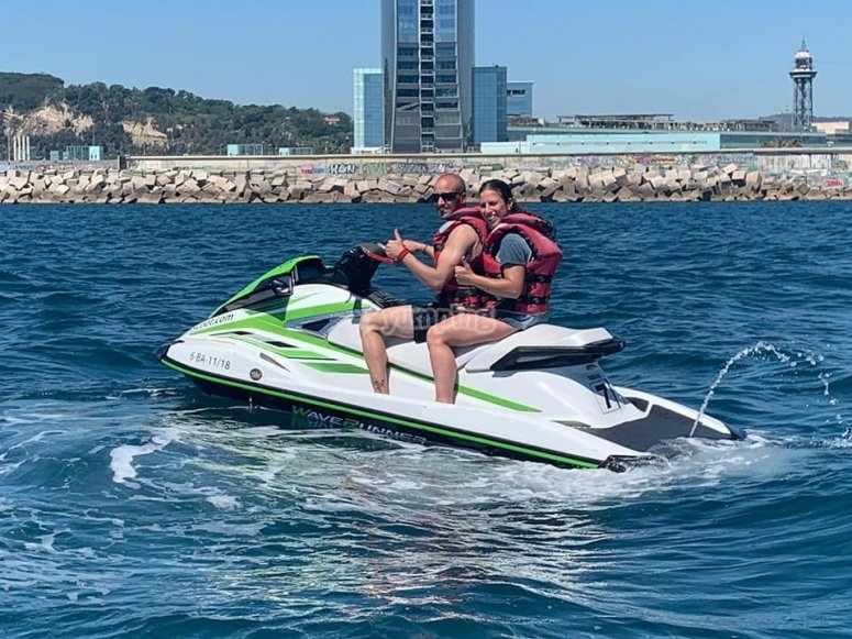 Double-seater jet ski in Barcelona