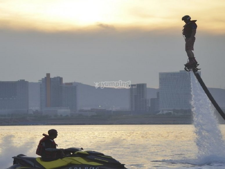 Flyboard and jet ski package in Barcelona
