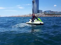 Jet ski route in Barcelona