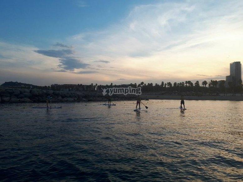 在巴塞罗那划桨