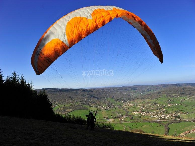 Paraglider flight from Gijón