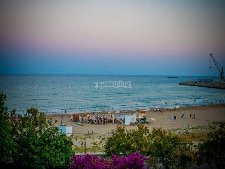 La playa de Vilanova