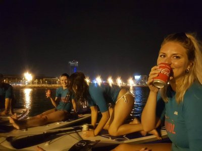 Night paddle surf tour full moon Barcelona 1h 30m