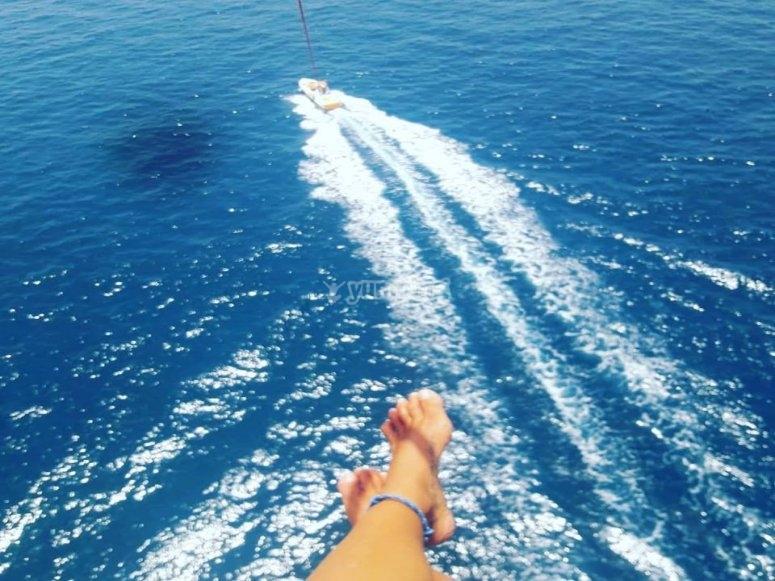 Vuelo en parasailing 150 metros de cabo