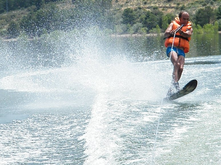 On the wakeboard
