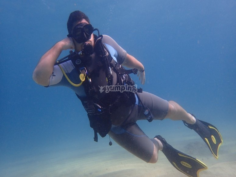 Inmersión de buceo en Gerona