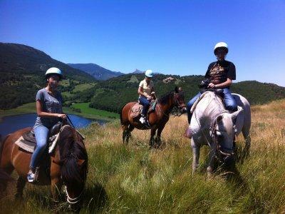骑马通过地质公园2天的路线