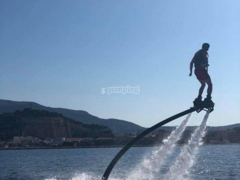 Acrobacias en el Mediterráneo