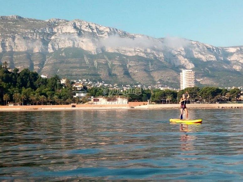 Paddle surf en aguas tranquilas