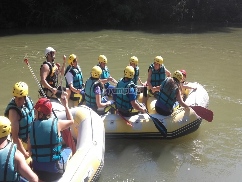 Rafting con amigos