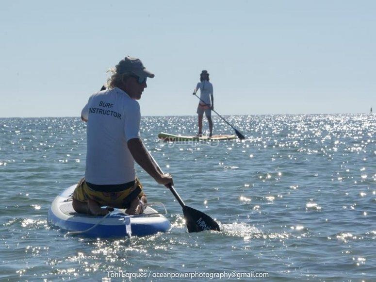 Monitor de paddle surf en Dénia