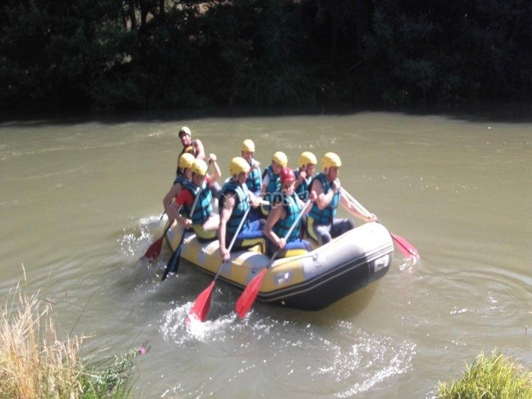 Rafting en el Ebro