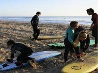 Preparándose para surfear