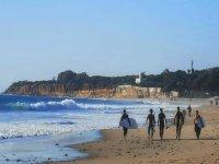 Nuestros surfers en la playa