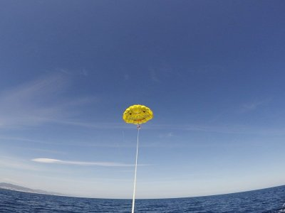 Summer offer parasailing Barcelona 15 minutes
