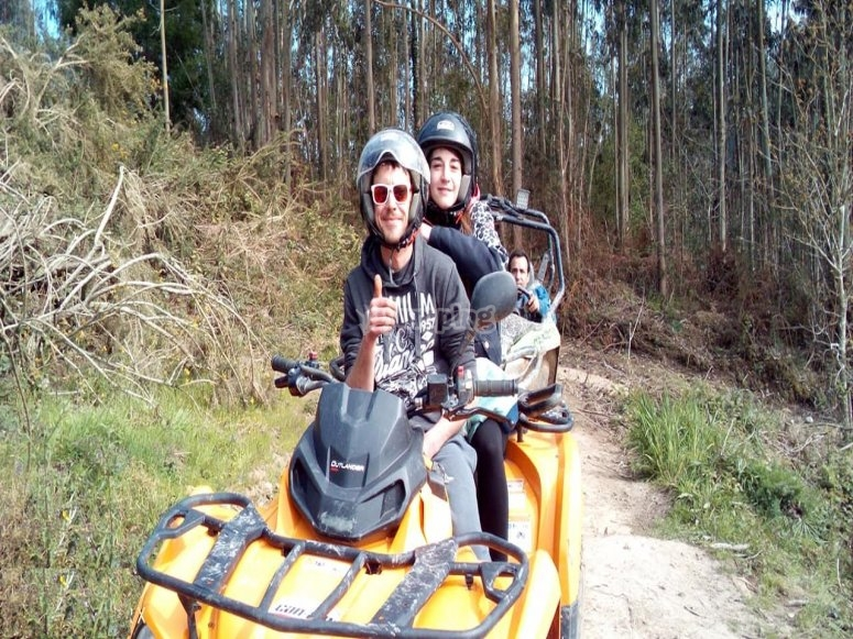 Two-seater quad bike route Asturias