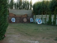 archery targets in the distance