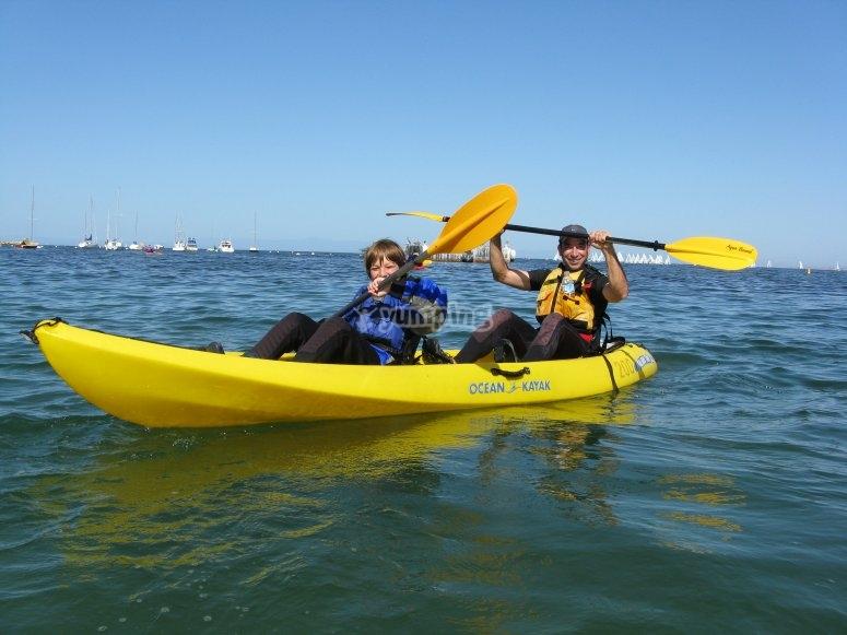 Alquiler kayak biplaza Gijón