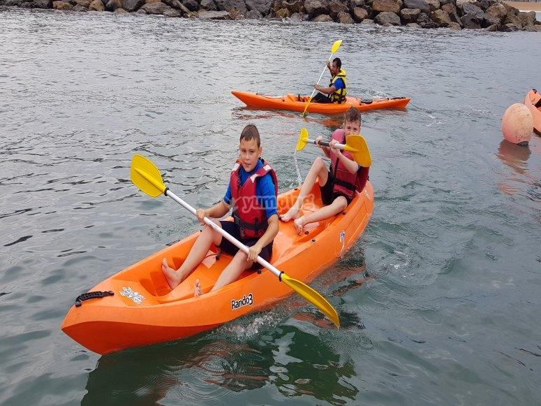 Alquiler kayak doble en el Puerto de Gijón
