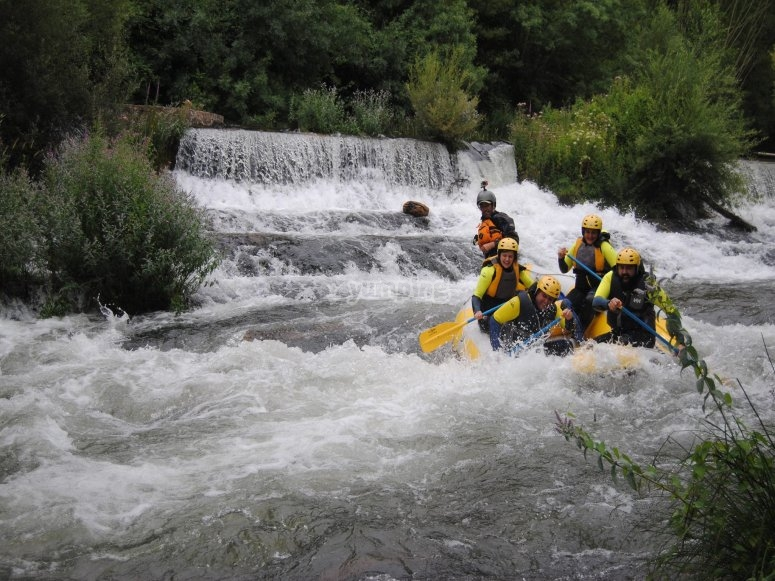 Down river rafting