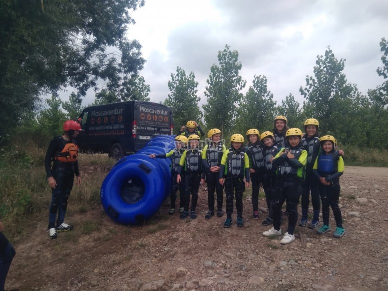 Camp with river tubing