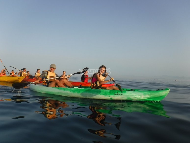 Excursión en kayak nocturna Ceuta