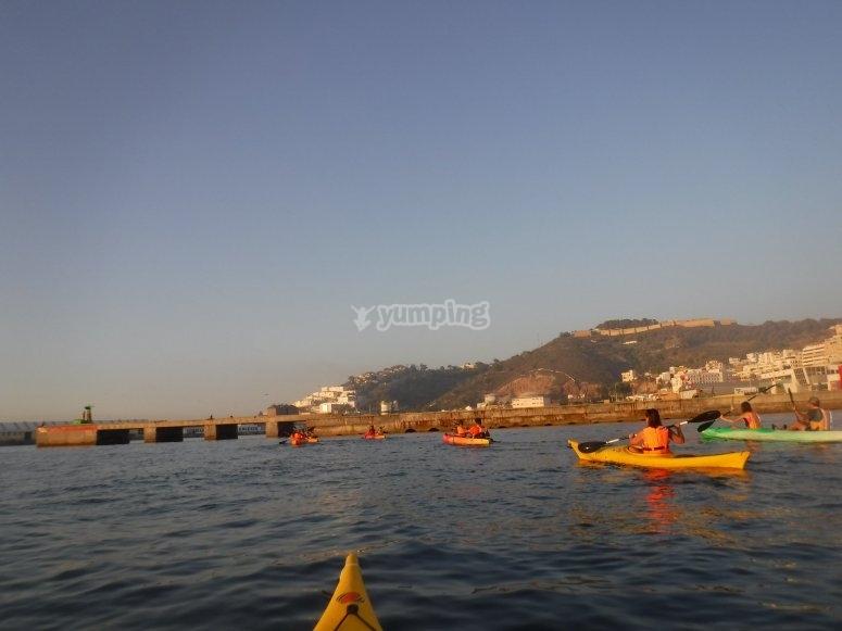 Paseo en kayak muralla real Ceuta