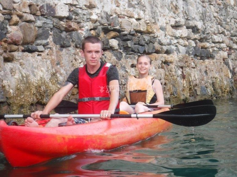 Kayak biplaza en Ceuta