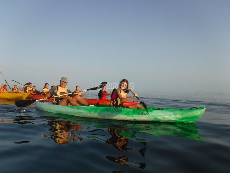 Excursión en grupo kayak nocturno Ceuta