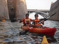 Ruta en kayak biplaza en Ceuta