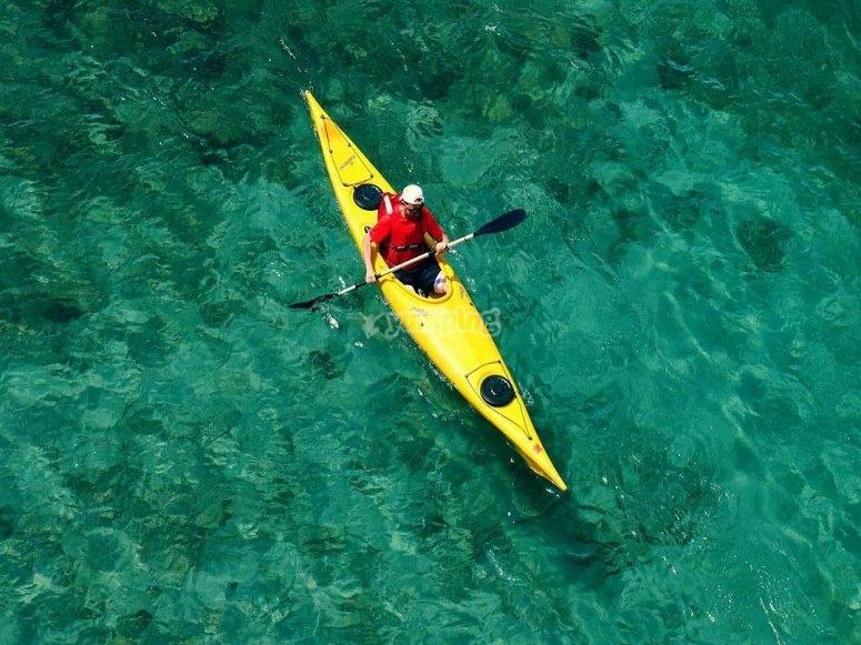 Salida en kayak individual 2 horas Ceuta