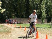 Recorrido de obstaculos en bici